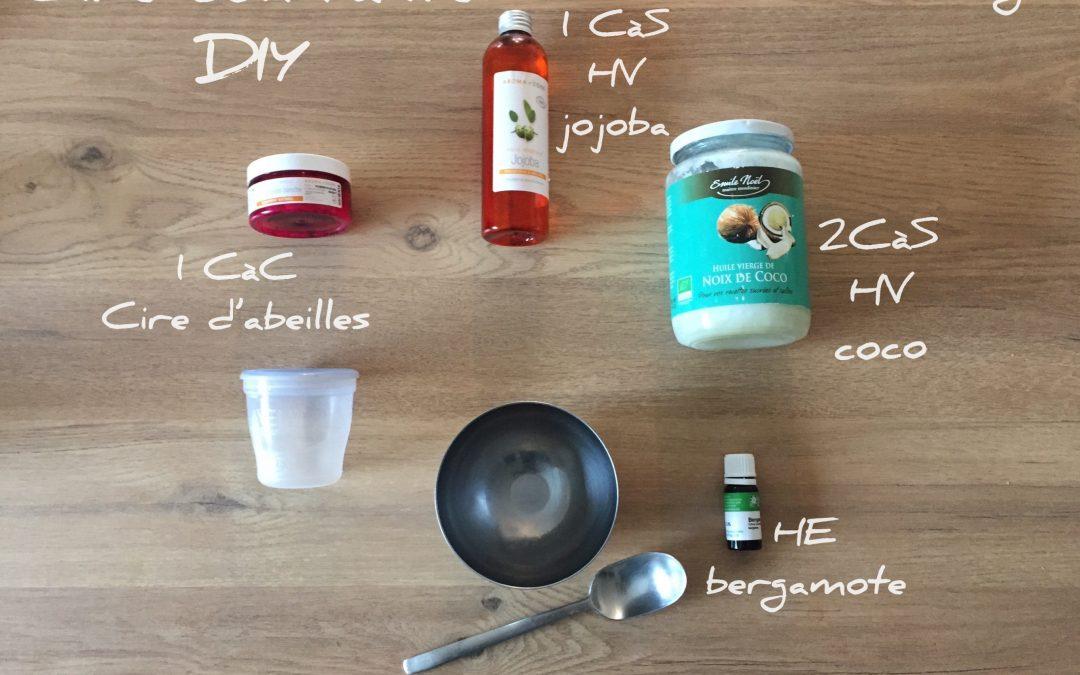 Cire coiffante fait maison, la recette